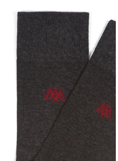 Mavi Erkek  Uzun Çorap 092025-30774 Gri